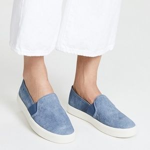 New Vince Blair Slip On Sneakers in Indigo Blue